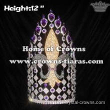 12in Large Custom Fleur De Lis Pageant Queen Crowns