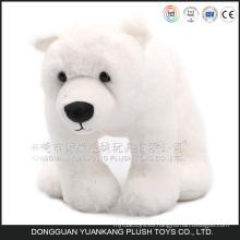 2016 mini oso polar de la felpa suave preciosa para la promoción, pequeño oso polar de la felpa blanca promocional
