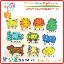 hot new products 2015 wooden number puzzle for children