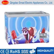 Mini congelador barato de la exhibición del helado 138-298Lchina