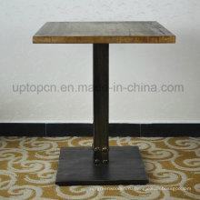 Винтажный Твердый резиновый деревянный стол ресторан (СП-RT466)