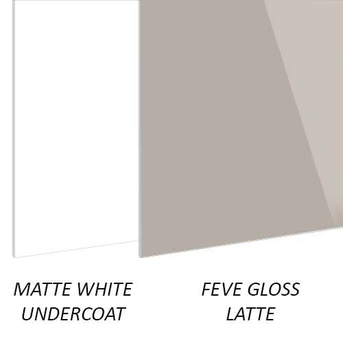 لوحات البناء FEVE Gloss Latte Aluminium sheet