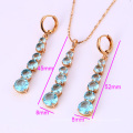61987-Xuping Fashion Woman Jewlery Set with 18K Gold Plated