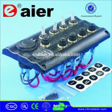 Panel de interruptores a prueba de agua PN-TB4-S1S4 12V LED
