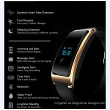 Impermeable incorporada USB Wechat Interconexión Heatrate Monitor El Bluetooth Sleep Monitoring Super-Long Espera Smart Watch con monitor de frecuencia cardíaca