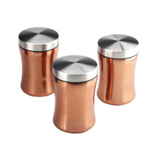 3pcs of Stainless Steel Canister Jar