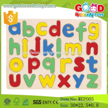 2015 colorful wooden alphabet puzzle toy intelligence wooden toy custom puzzle