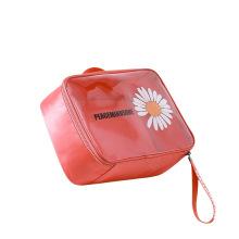 Cute Fashion Daisy Women Makeup PVC Bag Cosmetics Bags & Cases with Zipper