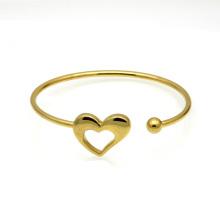Mode Laser Leere Faden Elastizität Herzschlag Manschette 18 Karat Gold Herz Armband Armreif