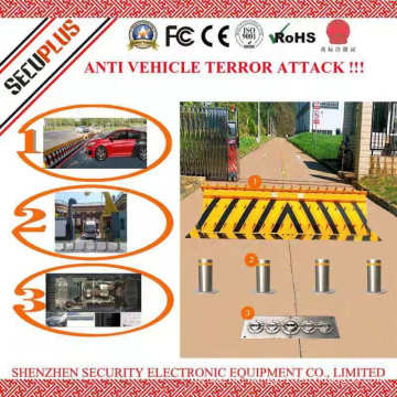 Fixed under vehicle bomb scanning system for parking, building