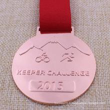 Médaille adaptée aux besoins du client de cyclisme de médaillon en métal pour le triathlon