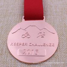 Подгонянное медаль металла, медальон бег Велоспорт Триатлон