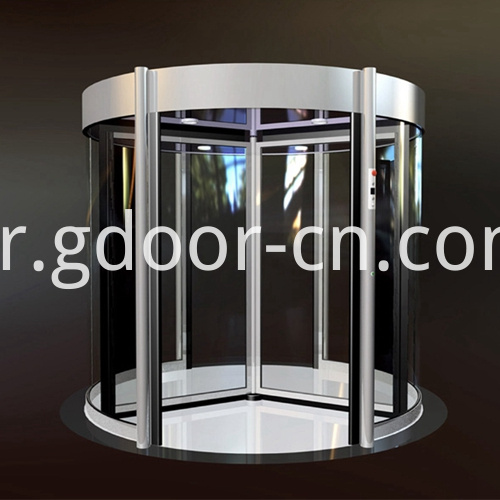 Three-wing Automatic Revolving Doors with Modular Design