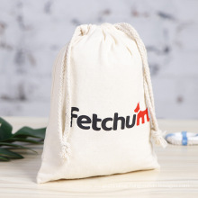 Good quality cotton canvas drawstring bag low price pouch duoble string