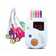 48 Hours New Dynamic ECG, ECG Holter, 12-Lead ECG Waveform, Heartrec Eco