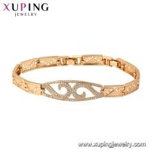75810 xuping pulsera de oro 18K chapado en oro de lujo del encanto de la moda para las mujeres