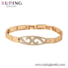 75810 xuping 18K gold plated luxury style fashion charm bracelet for women