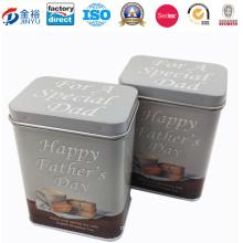 Wholesale Coffee Packaging Metal Box with Hinge
