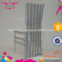 striped sequin wedding chair covers
