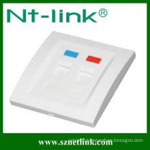 UK Type Single Port Faceplate with Cat5E Jack