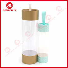 Customized Gift  Plastic Packaging Paper Lid Bottom