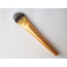 Gold alumínio Ferrule mão escova de base