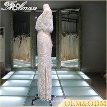 Panyu helado blanco halter elegante vestido de noche vestido de noche