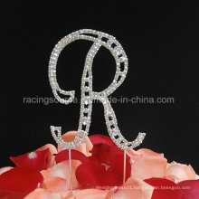 Rhineston Letter From a to Z French Font Vintage Alphabelt Wedding Cake Topper