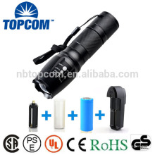 G700 X800 Super Brilhante XM-L T6 LED Zoom Tactical Lanterna com 18650 ou 26650