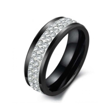 Diamond ring, Christmas gift,Fashion wholesale jewelry black ceramic ring for men, women