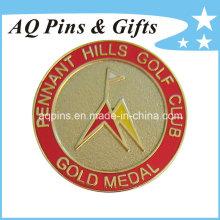 Emblema de metal de ouro com Cloisonne imitação (badge-058)