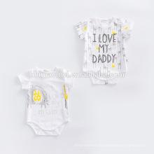 Combi-short de bébé coton bio personnalisé bébé nouveau-né