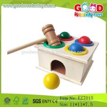 2015 Novos mais populares Brinquedo de martelo de madeira balão de brinquedo Brinquedo de martelo de madeira Brinquedos