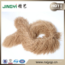 Bufanda mongolian de la lana de la piel del cordero de la piel rizada al por mayor del pelo largo