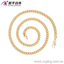 Imitaion Fashion Xuping 18k Gold -Plated Sin Piedra Neckalce en Environmental Copper-42639