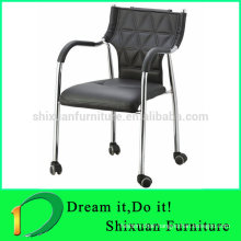 Leather Office Chair with Wheels Meeting Chairs