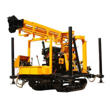 portable bore hole Crawler wheel type Diesel engine  hydraulic Rotary water well drilling rig machine