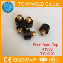 TIG welding torches spares parts short back cap 41V33