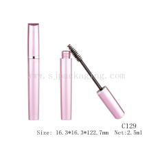 Leere Loveliness Wimperntusche Verpackung Perle rosa Mascara Verpackung metallischen rosa Mascara Container 2,5ml leeren schlanke Wimperntusche Rohr