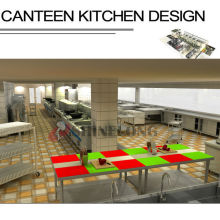 Shinelong Customized Projekt Kantine Küche Design