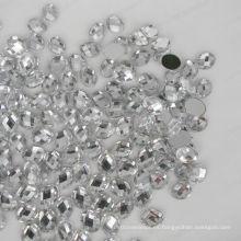 Diamante de acrílico ovalado de la parte posterior plana