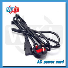 BS UK standard AC power cord for laptop with C13 plug