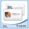 Прозрачный пластик ПВХ визитная карточка