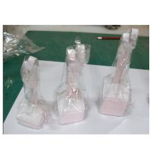 Multifunktionale weiße PU-Schmuck-Metallohrring-Ring-Anzeige (AIO-ER-WL3)