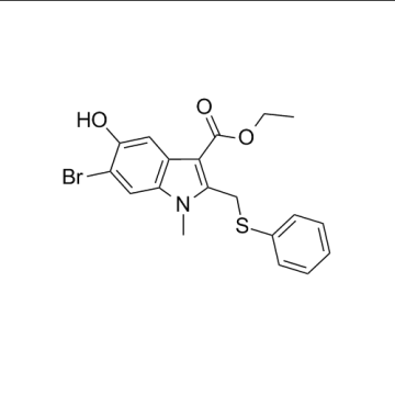 CAS 131707-24-9, Arbidol intermediário, 6-bromo-5-hydroxy-1-methyl-2-(phenylsulfanylmethyl)indole-3-carboxylate de etila