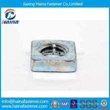На складе Китайский производитель Лучшая цена DIN562 ss304 Квадратные тонкие гайки с оцинкованной / ss304 Квадратные тонкие гайки с докромблером