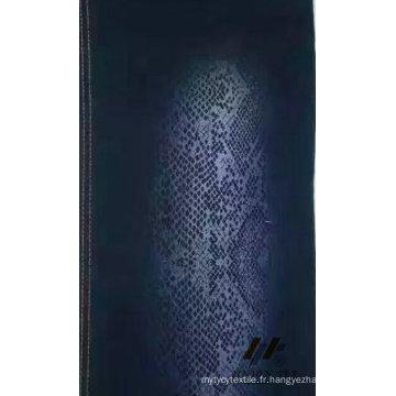 Tissu de coton de denim de gaufrage de coton (# UTG72132)