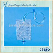 2000ml bolsa de urina esterilizada médica descartável