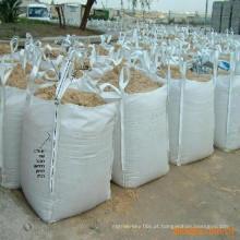 O PE imprimiu sacos amarelos do recipiente sacos enormes do pp usados para conter o lixo e a sucata