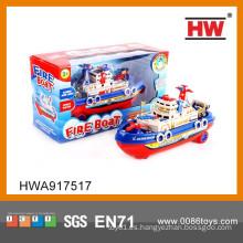 27cm plástico BO música y luz agua y tierra miniatura barco de juguete
